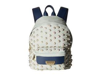 Zac Posen Eartha Iconic Small Backpack Denim Pearl Lady Backpack Bags