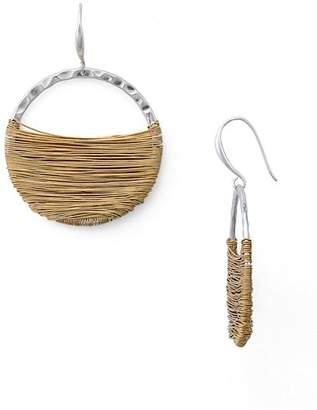 Robert Lee Morris Soho Wire Wrap Hoop Earrings