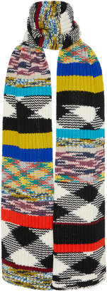 Missoni Fringed Crochet-Knit Cashmere Scarf