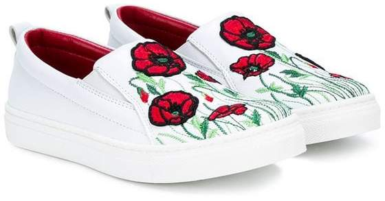 Quis Quis teen poppy laceless sneakers