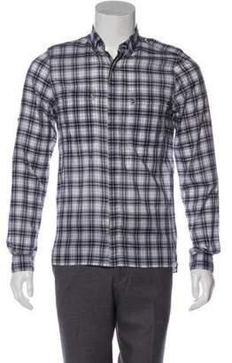 Valentino Check Casual Shirt