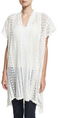 Johnny Was Pearla Lace-Crochet Poncho, Plus Size $290 thestylecure.com