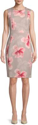 Calvin Klein Collection Floral Sheath Dress