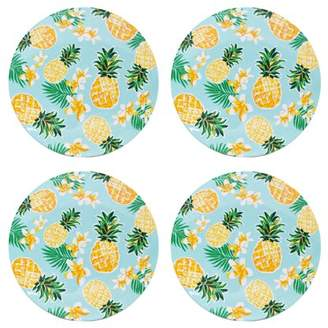 Mainstays Pineapple Dinner Plate, Set of 4