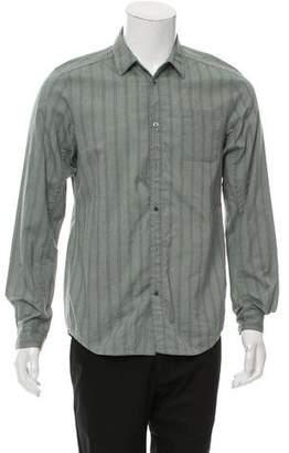 Undercover Stripe Button-Up Shirt