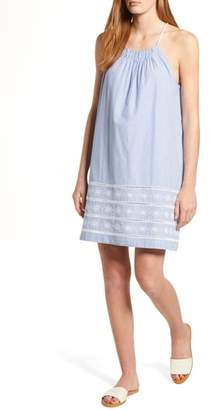 Vineyard Vines Sandbar Embroidered Stripe Shift Dress