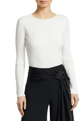 Jonathan Simkhai Ribbed Cutout Sweater