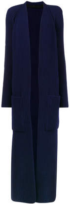 Haider Ackermann Blue ribbed long knitted cardigan