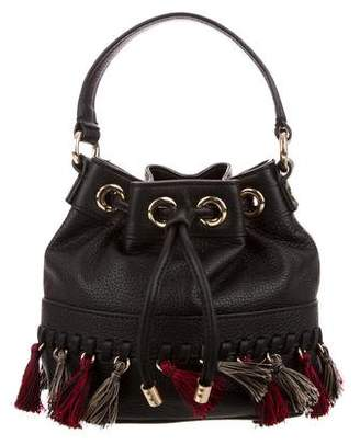 Milly Mini Leather Bucket Bag