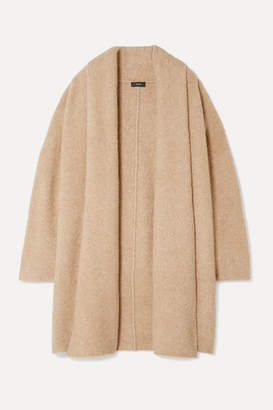 Theory Merino Wool-blend Boucle Cardigan - Beige