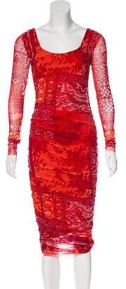 Fuzzi Printed Midi Dress