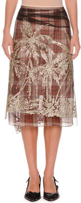 21a1b10525 No.21 No. 21 Plaid A-Line Embellished Tulle Skirt
