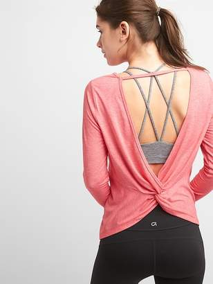 Gap GapFit Breathe Long Sleeve Tee with Knotted Back