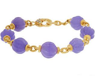 "Judith Ripka 14K Clad Jade Bead7-1/4"" Bracelet"