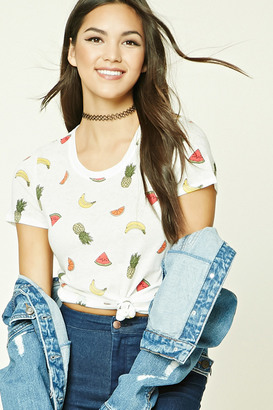 FOREVER 21+ Fruit Print Tee $8.90 thestylecure.com