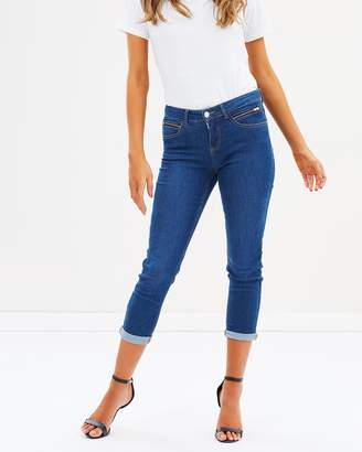 PETITE Scarlet Roll Up Jeans