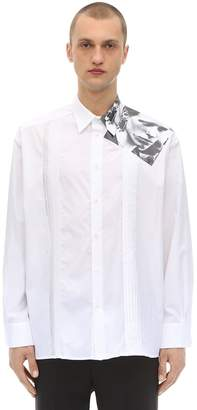 Raf Simons Cotton Poplin Shirt W/ Printed Patch
