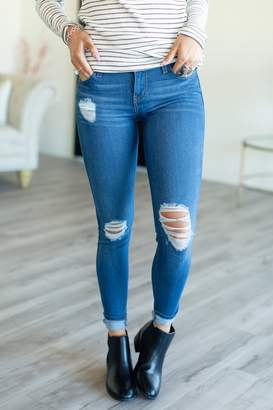 DK Destroyed Jeans - Medium Wash