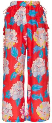 A Peace Treaty talla floral print trousers
