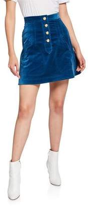 Derek Lam 10 Crosby A-Line Mini Skirt with Snaps