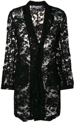 Comme des Garcons lace mid-length blazer