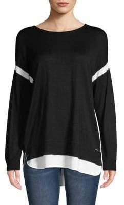 Calvin Klein Long-Sleeve High-Low Sweater