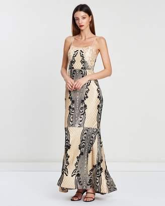 ba247e718ffb Aspen Scoop Neck Pattern Sequin Gown