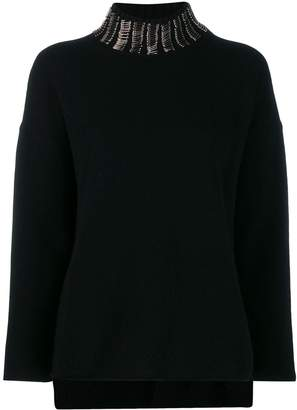 Pierantonio Gaspari Pierantoniogaspari safety pin embellished jumper