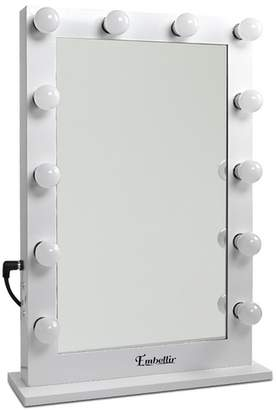 White Make Up Mirror Frame with LED Lights