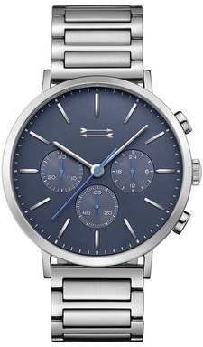 Uri Minkoff Griffith Silver Tone Bracelet Watch, 43MM