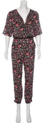 BA&SH Floral Print Oversize Jumpsuit w/ Tags