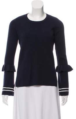 Rebecca Minkoff Ruffle-Accented Crew Neck Sweater