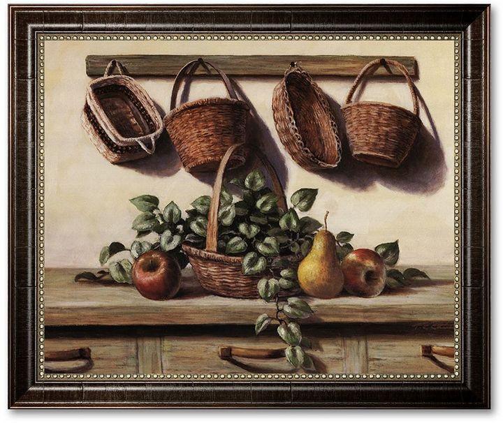 "KitchenArt ""Hanging Baskets"" Framed Canvas Art by T.C. Chiu"