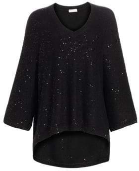 Brunello Cucinelli Pailette Cashmere Silk Sweater