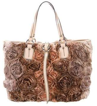Valentino Floral Ruched Tote