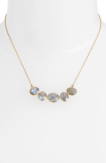 Argentovivo 5-Stone Frontal Necklace