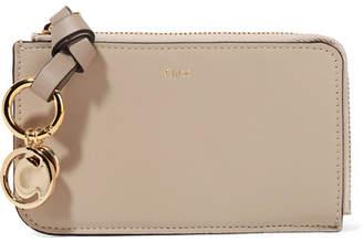 Chloé Alphabet Leather Wallet - Taupe