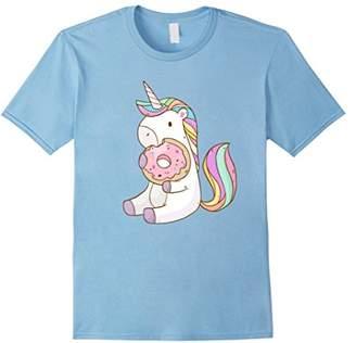 Cute Hungry Unicorn Munching on Yummy Donut T-Shirt