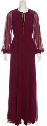 Erin Fetherston Ruche-Accented Maxi Dress