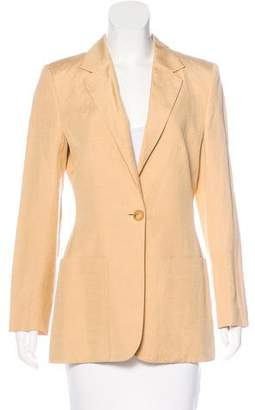 Hermès Fitted Silk Blazer