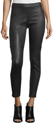 Eileen Fisher Fisher Project Leather Leggings $998 thestylecure.com