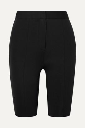 Tibi Stretch-woven Shorts - Black