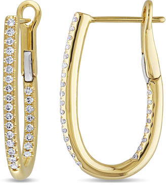 Diamond Select Cuts 14K 0.25 Ct. Tw. Diamond Hoop Earrings