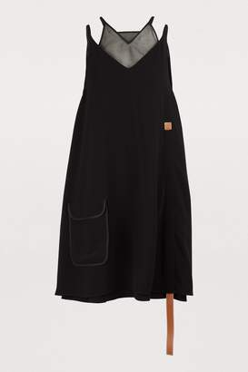 Loewe Trapeze dress with leather band