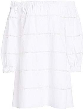 A.L.C. Women's Hartman Cotton Poplin Off-The-Shoulder Dress