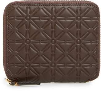 Comme des Garcons Embossed Leather Line Pattern Wallet