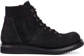 Rick Owens lace up ankle boots