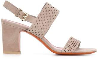 Santoni laser-cut sandals
