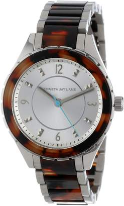 Kenneth Jay Lane Women's KJLANE-2216 Dial Stainless Steel and Brown Tortoise Resin Watch