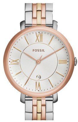 Women's Fossil 'Jacqueline' Round Bracelet Watch, 36Mm $135 thestylecure.com